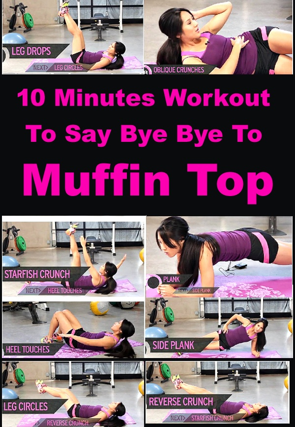 10 Minutes Total Abs Workout To Get Rid Of Muffin Top #workout #weightloss #flattummy