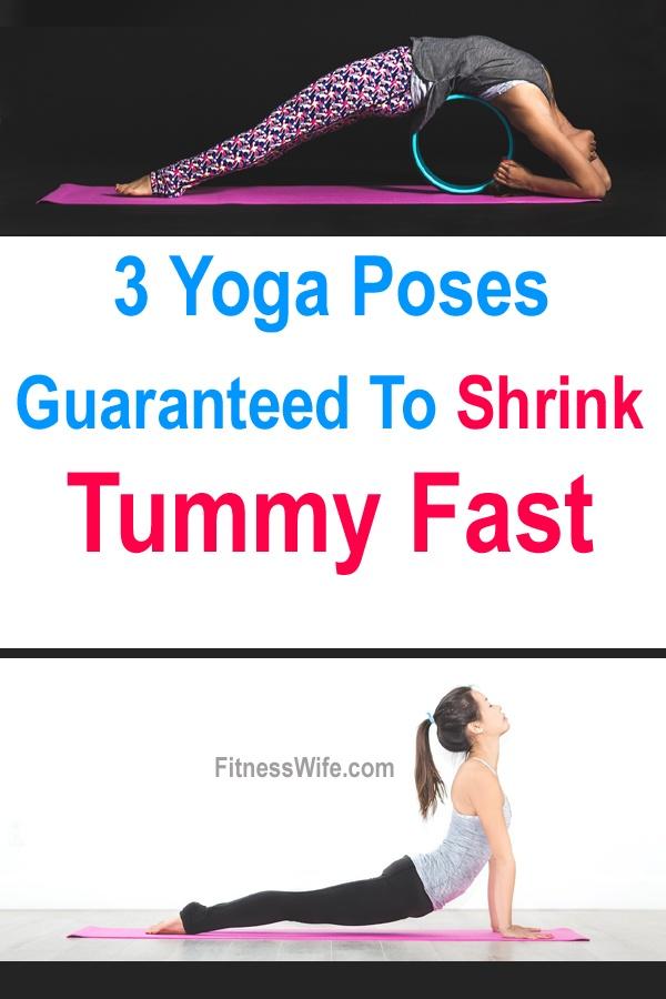 3 Yoga Poses Guaranteed To Shrink Tummy Fast #Yoga #fitness