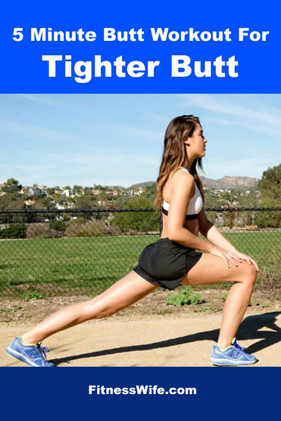 5 Minute Butt Workout For Tighter Butt For Women Over 40